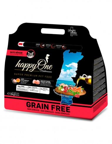 HAPPY ONE Grain Free Senior Ave 3kg -...