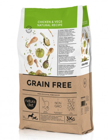 NATURA DIET Grain Free Pollo y Vegs -...