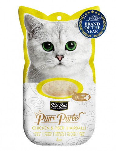 KIT CAT PurrPuree Pollo y Fibra...