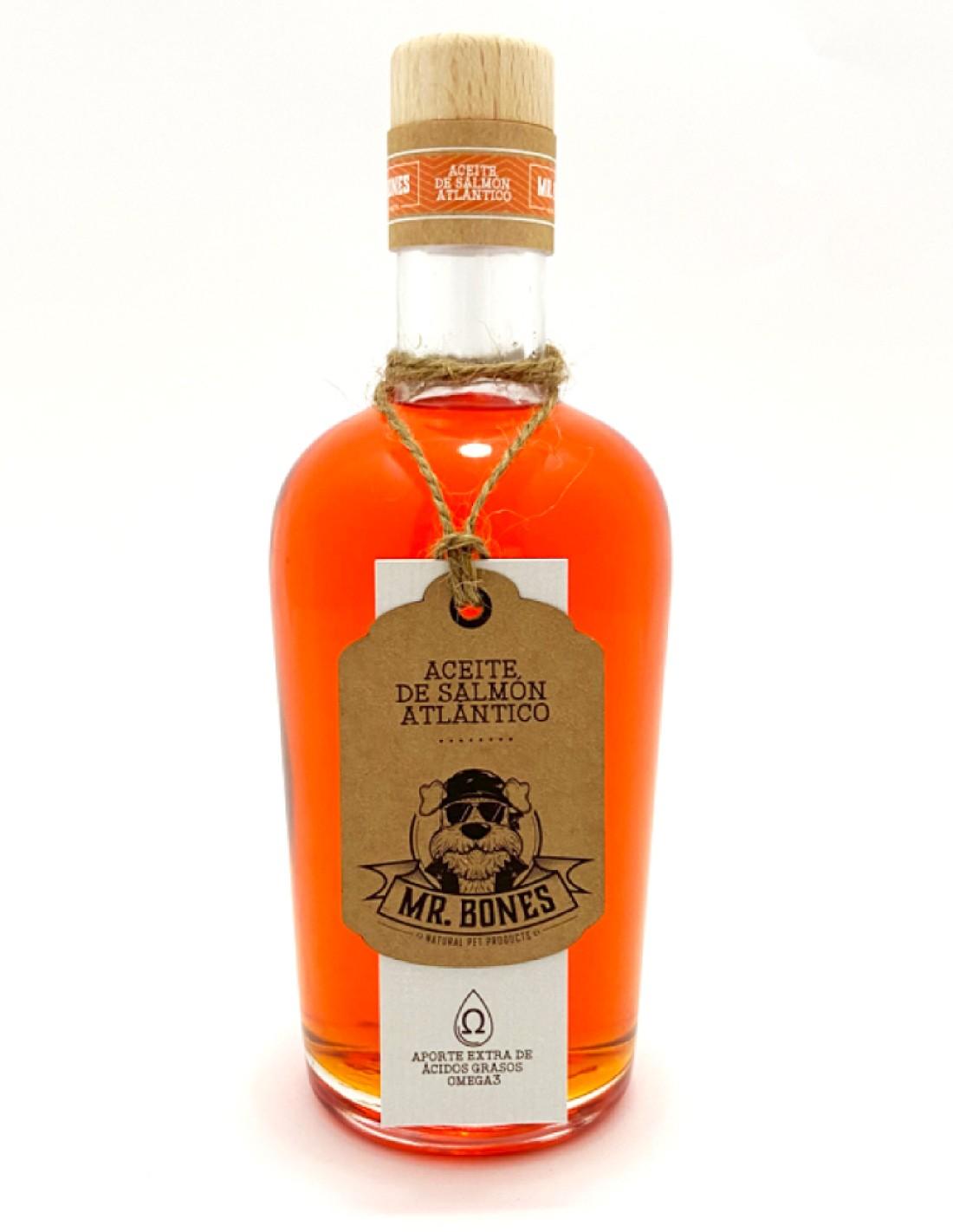 Aceite de Salmón Atlántico (375 ml) en Botella de Vidrio