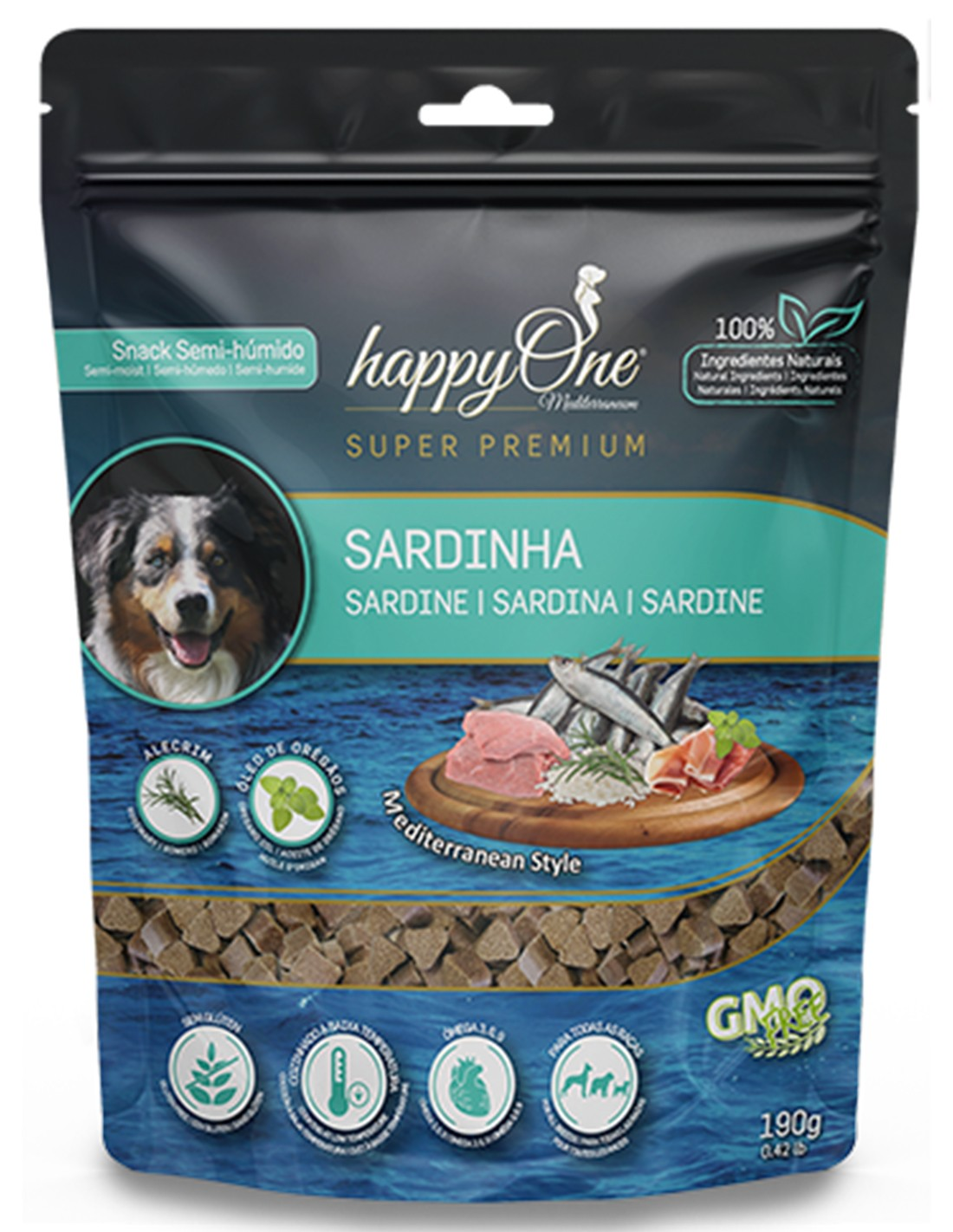 HAPPY ONE Sardina Snack Semi-húmedo para perros