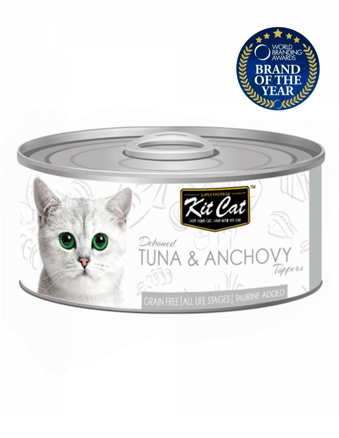 KIT CAT Atún con Anchoas 80g - Comida húmeda para gatos