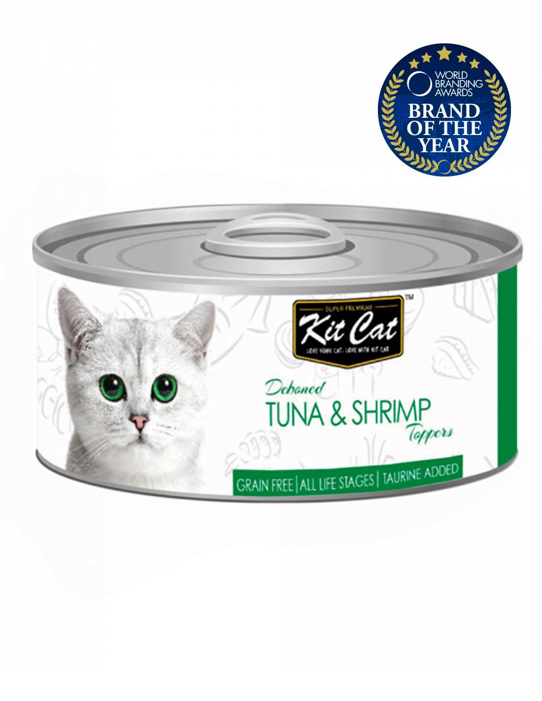 KIT CAT Atún con Camarones 80g - Comida húmeda gatos