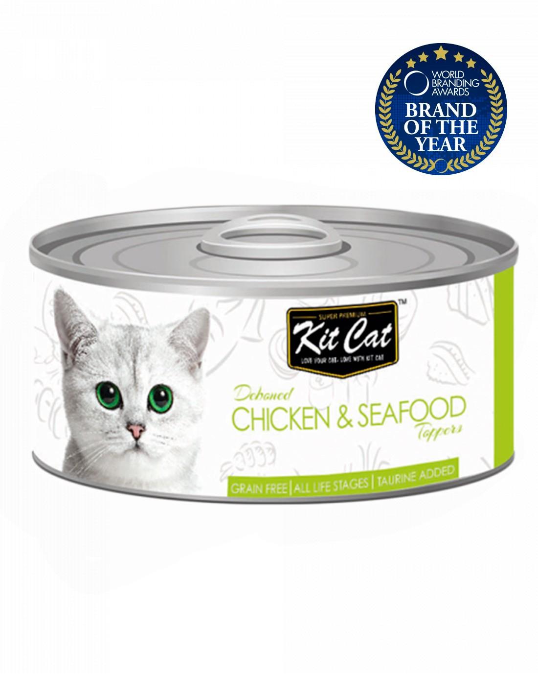 KIT CAT Pollo con Atún 80g - Comida húmeda para gatos