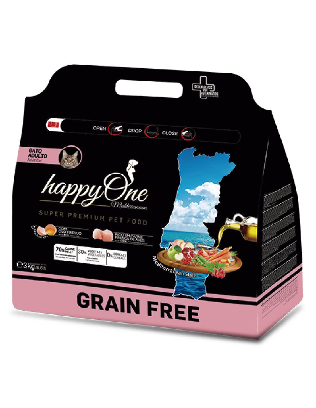 HAPPY ONE Grain Free Ave - Pienso para gatos
