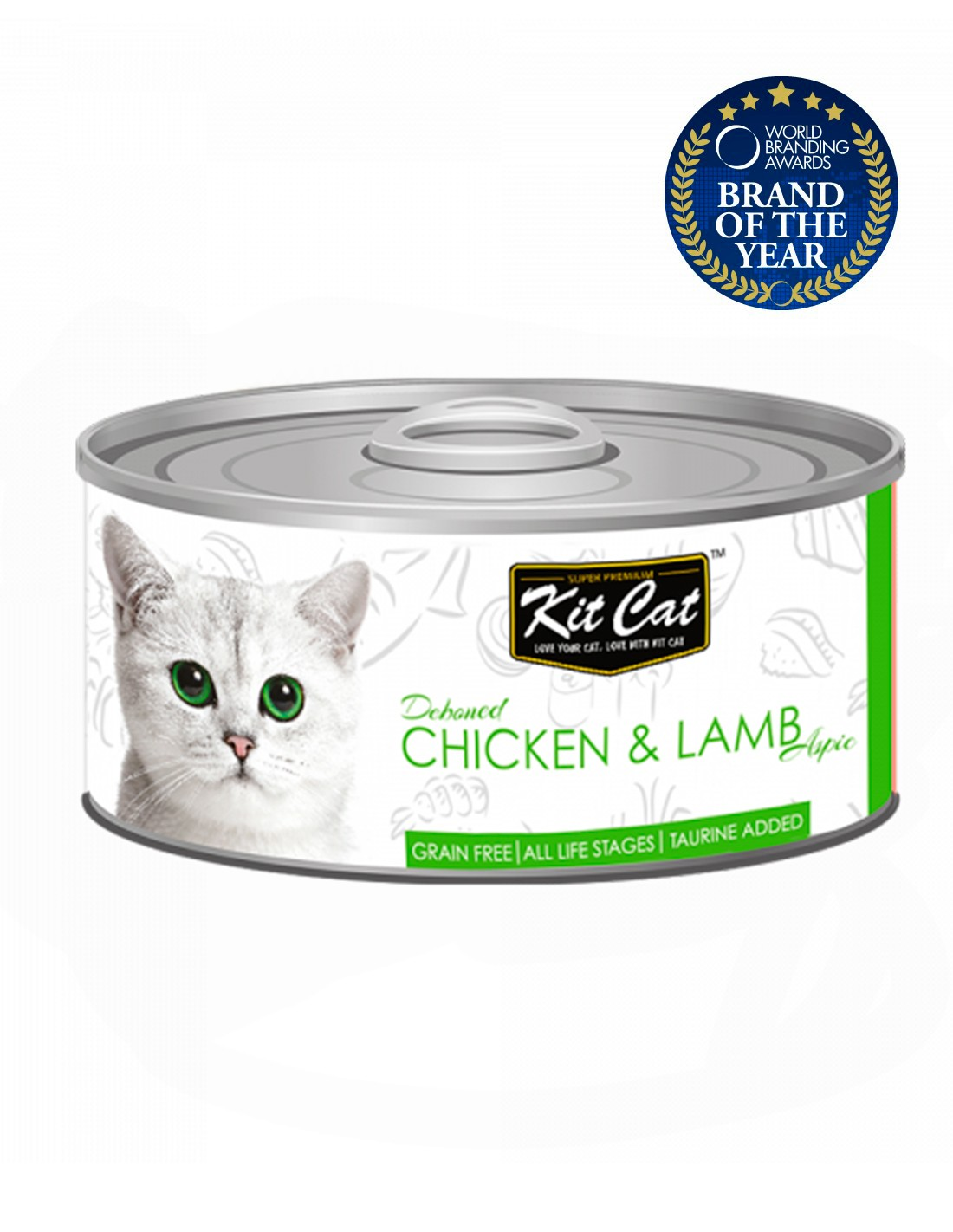 KIT CAT Pollo con Cordero 80g - Comida húmeda para gatos