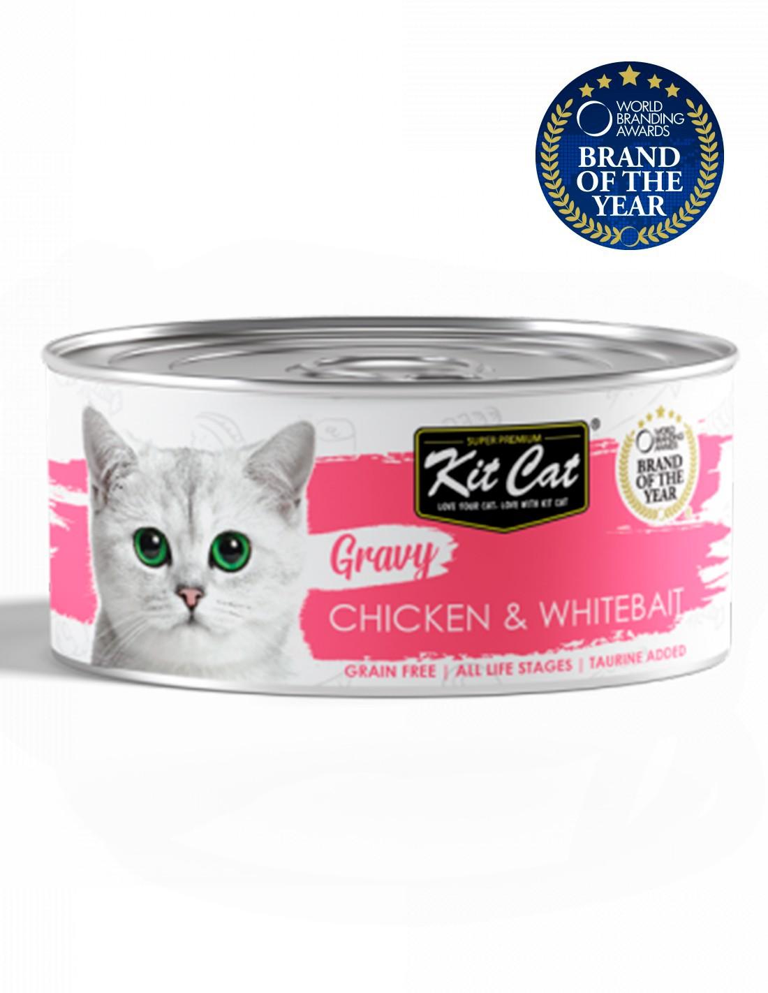KIT CAT Gravy Pollo con Chanquetes 70g en salsa Comida gatos