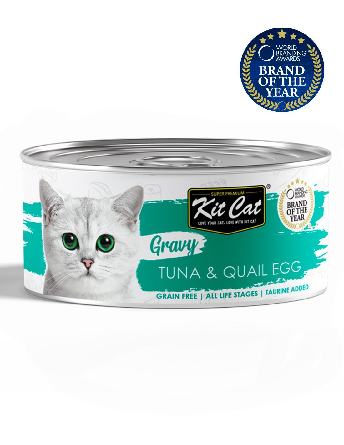 KIT CAT Gravy Atún con Huevo de Codorniz 70g en salsa gatos