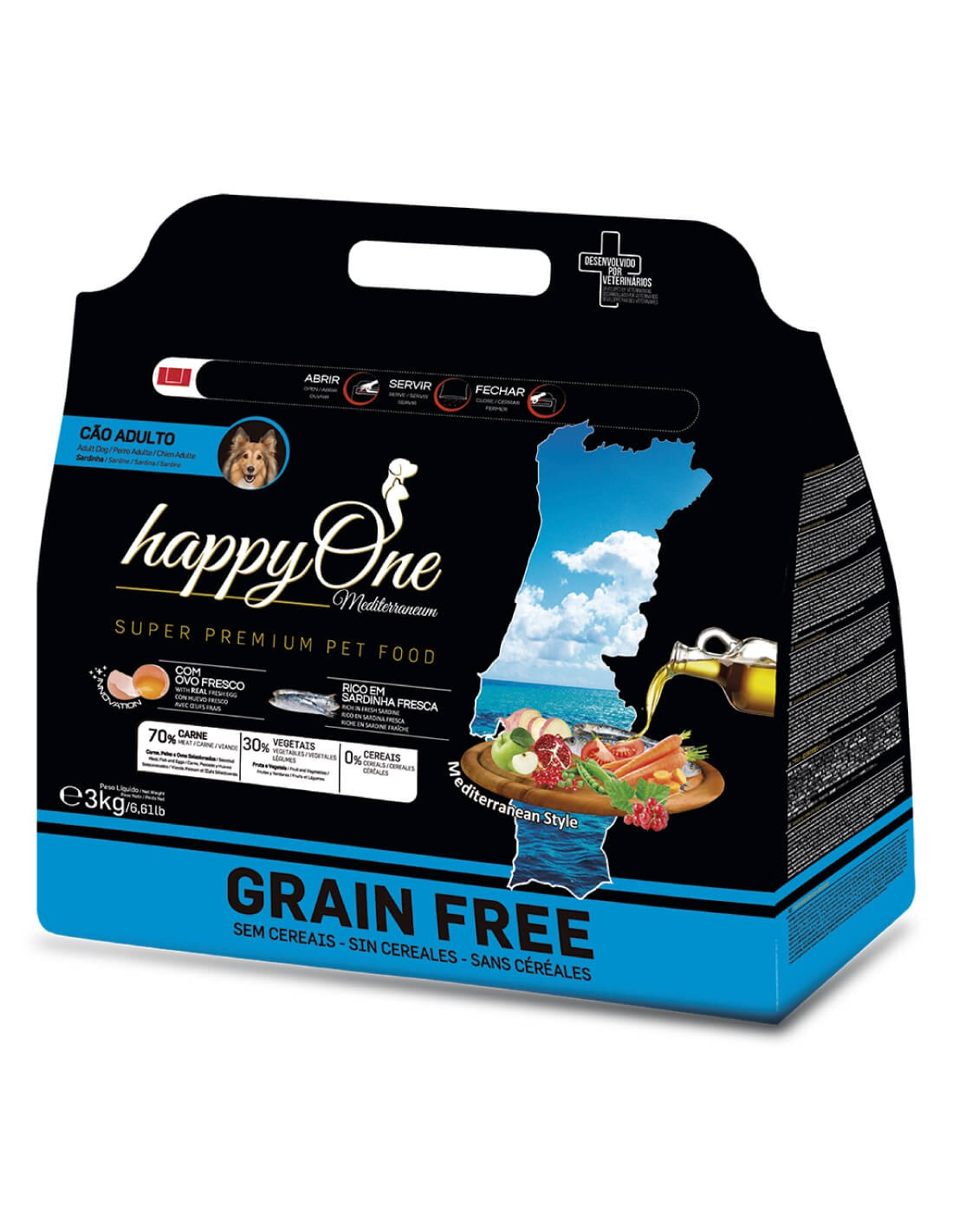 HAPPY ONE Grain Free Sardina - Pienso para perros