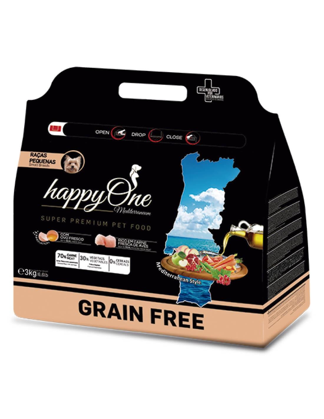 HAPPY ONE Grain Free Razas Pequeñas Ave - Pienso para perros