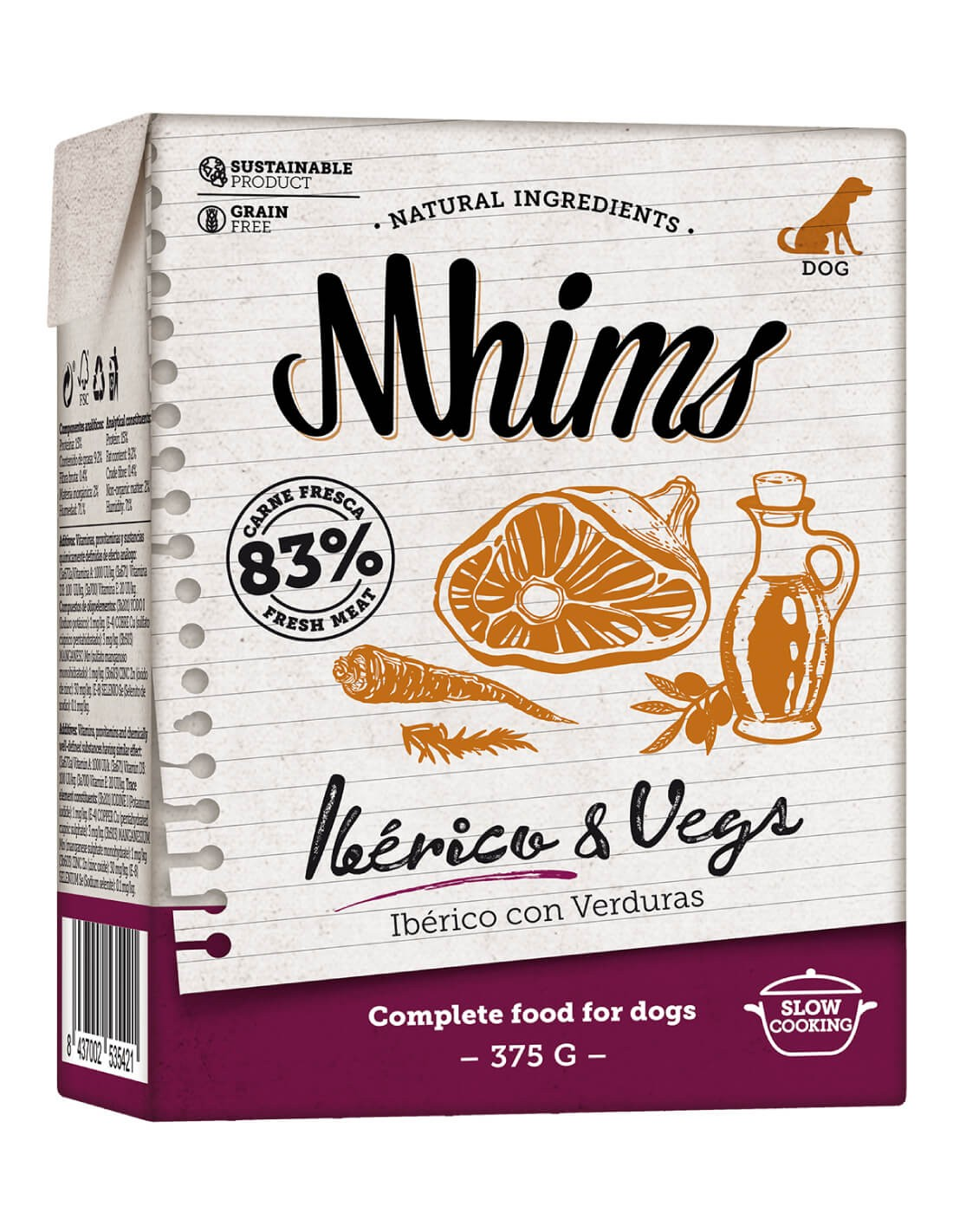 MHIMS Ibérico y Vegs 375g - Comida húmeda para perro