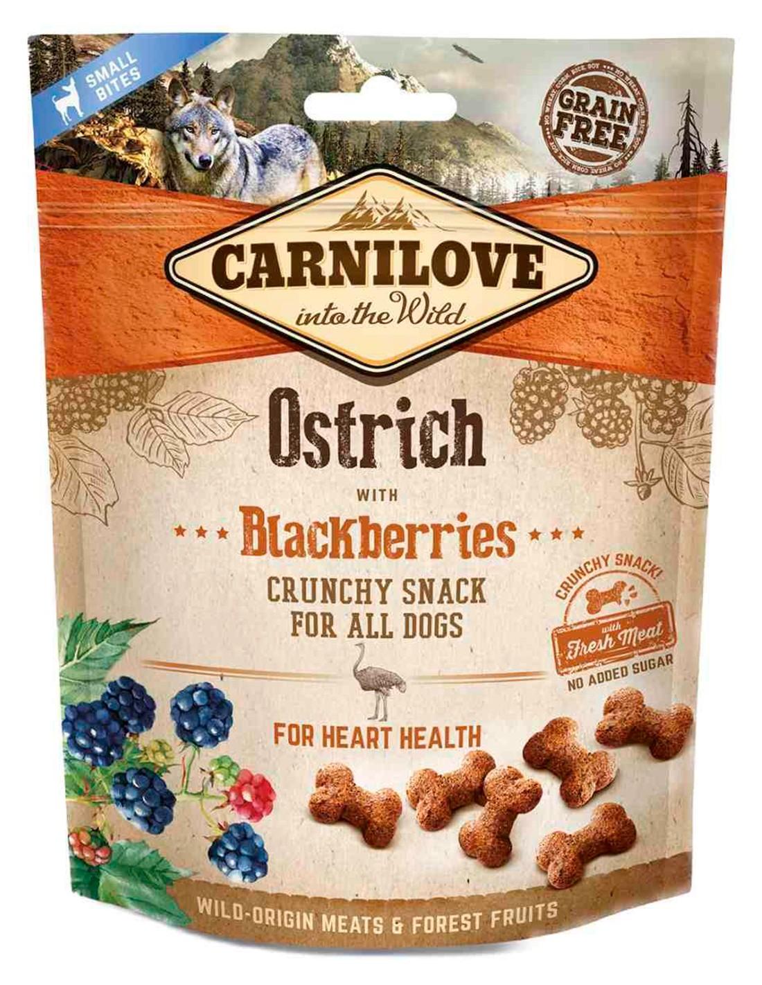 Carnilove Avestruz con moras 200g - Snack Crunchy