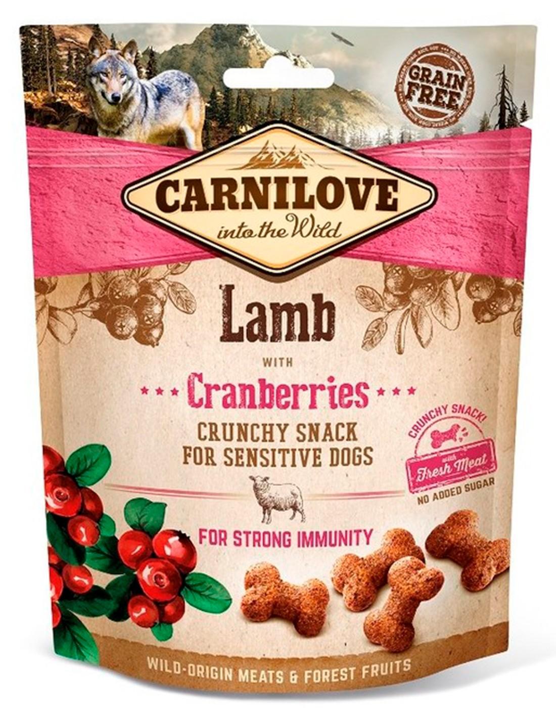 Carnilove Cordero con arándanos 200g - Snack Crunchy