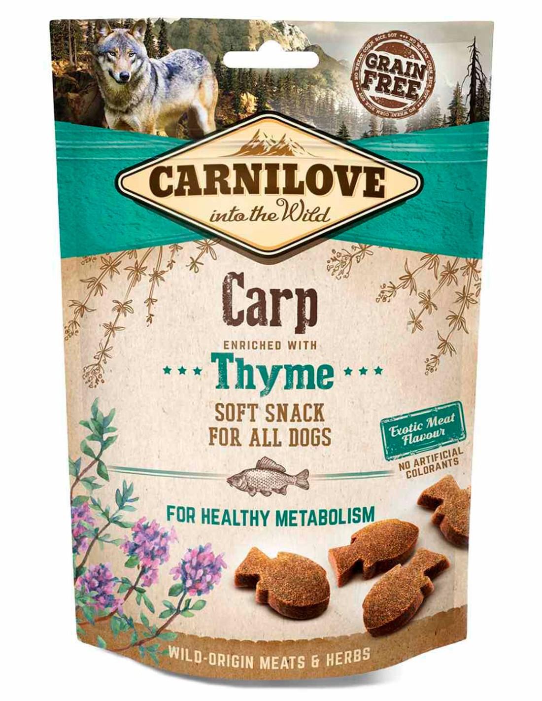 Carnilove Carpa con tomillo 200g - Snack Semihúmedo