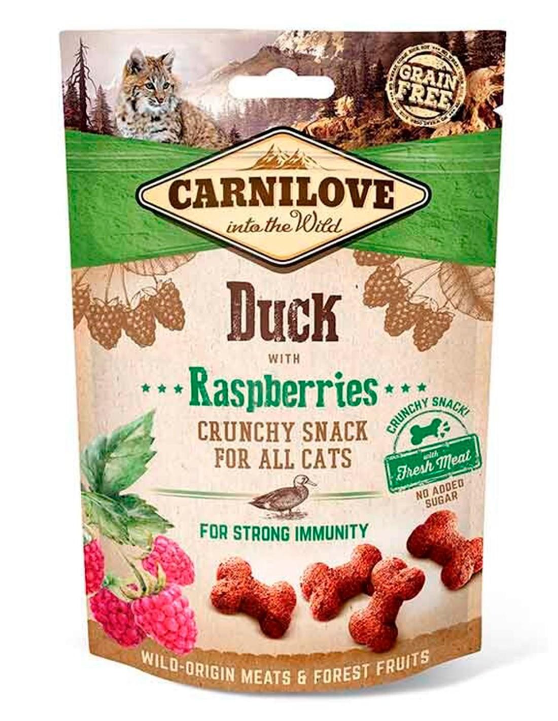 Carnilove Pato con frambuesas 50g - Snack Crunchy