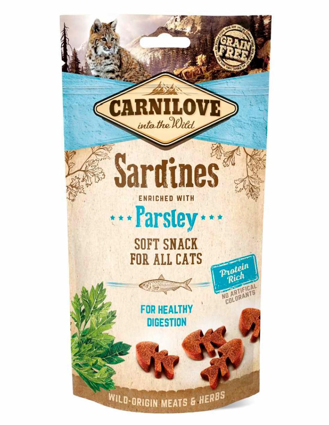 Carnilove Sardinas con Perejil 50g - Snack Semihúmedo