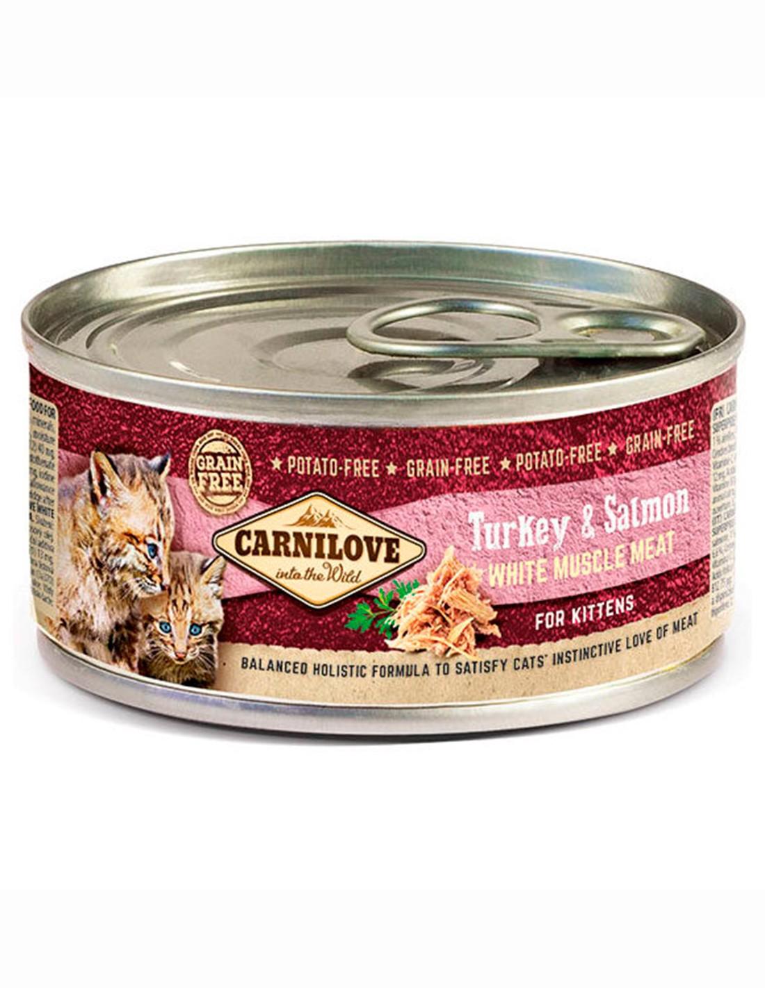 Carnilove Pavo y Salmón 100g - Comida húmeda para Kitten