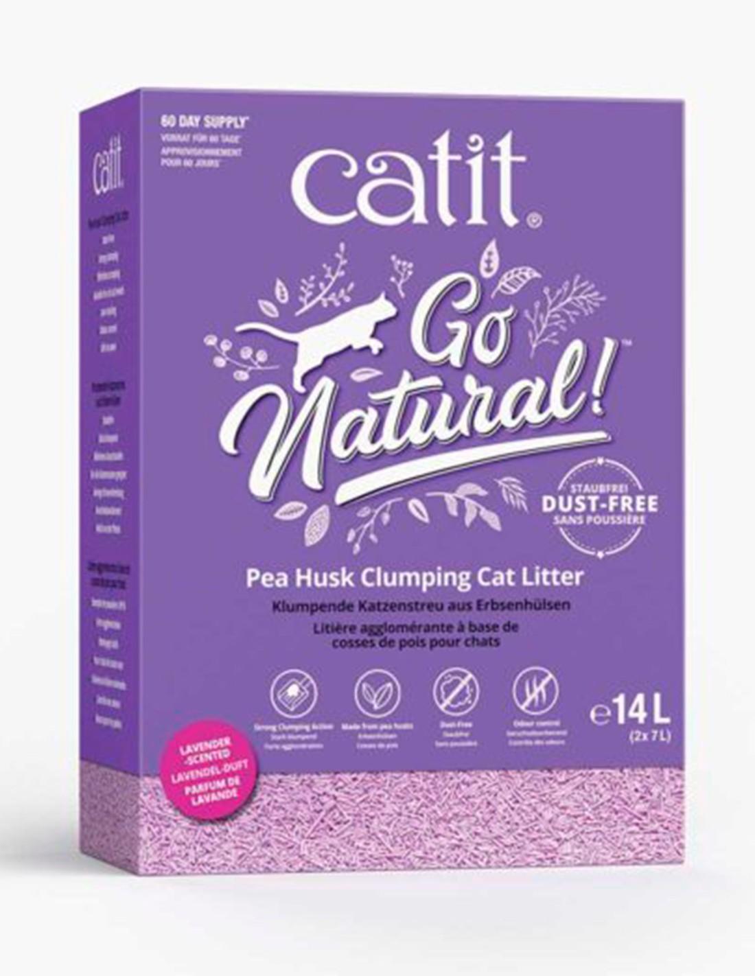 Catit Go Natural! Arena ECO de Guisante Lavanda 2x7L gatos