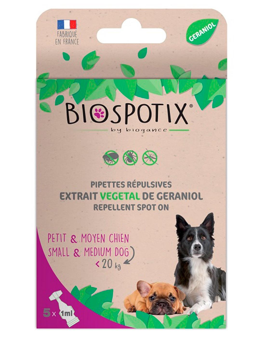 Biospotix Pipetas Antiparasitarias Naturales Perros-5x1 ml