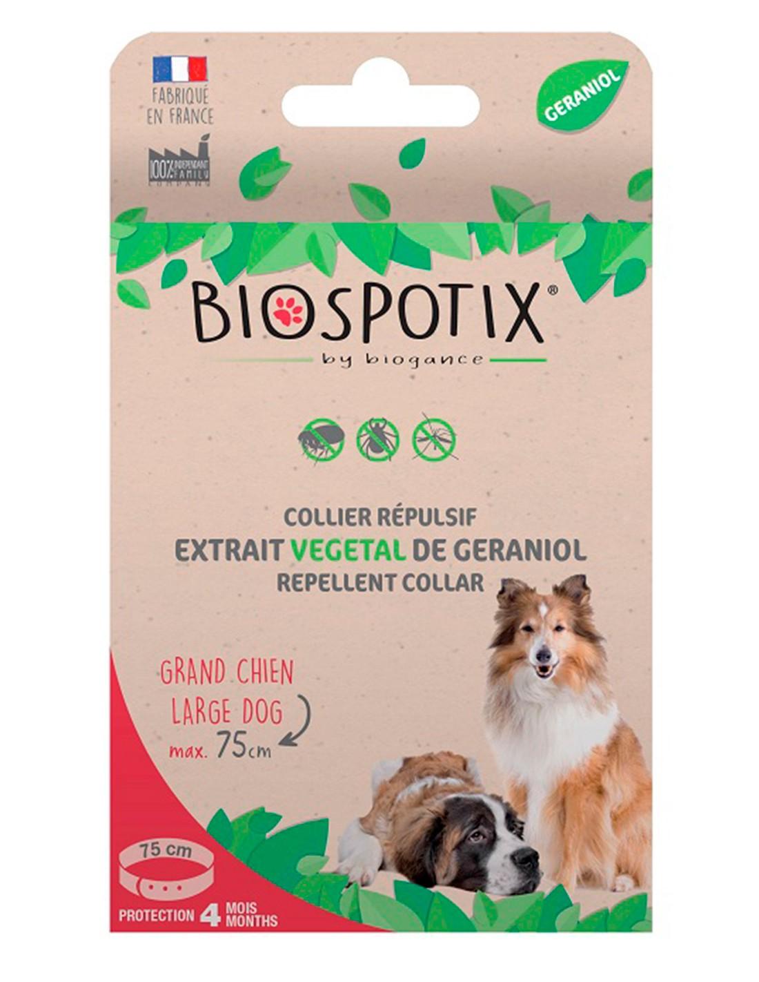 Biospotix Collar Antiparasitario Natural para Perros 75 cm