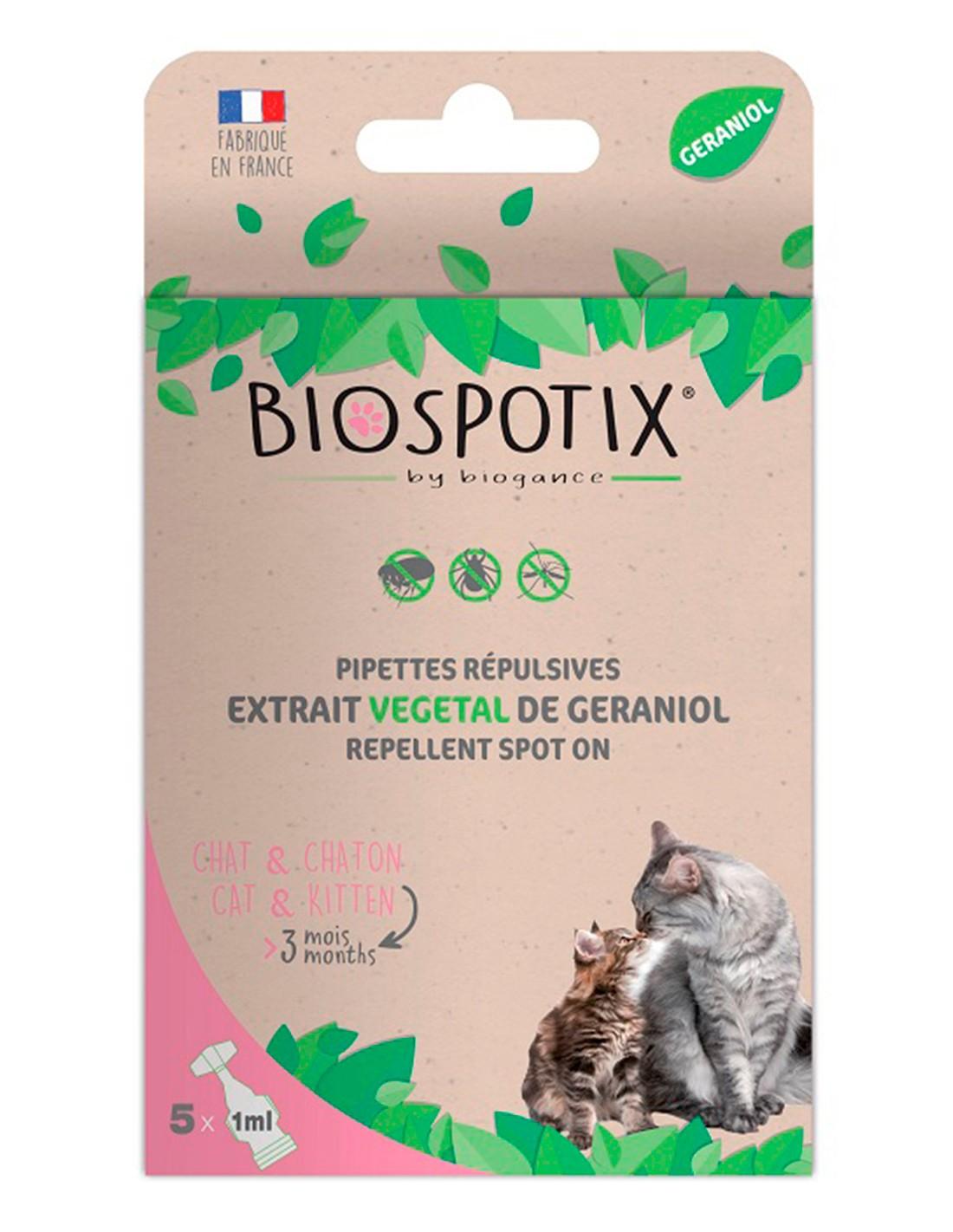 Biospotix Pipetas Antiparasitarias Naturales Gatos (5x1 ml)
