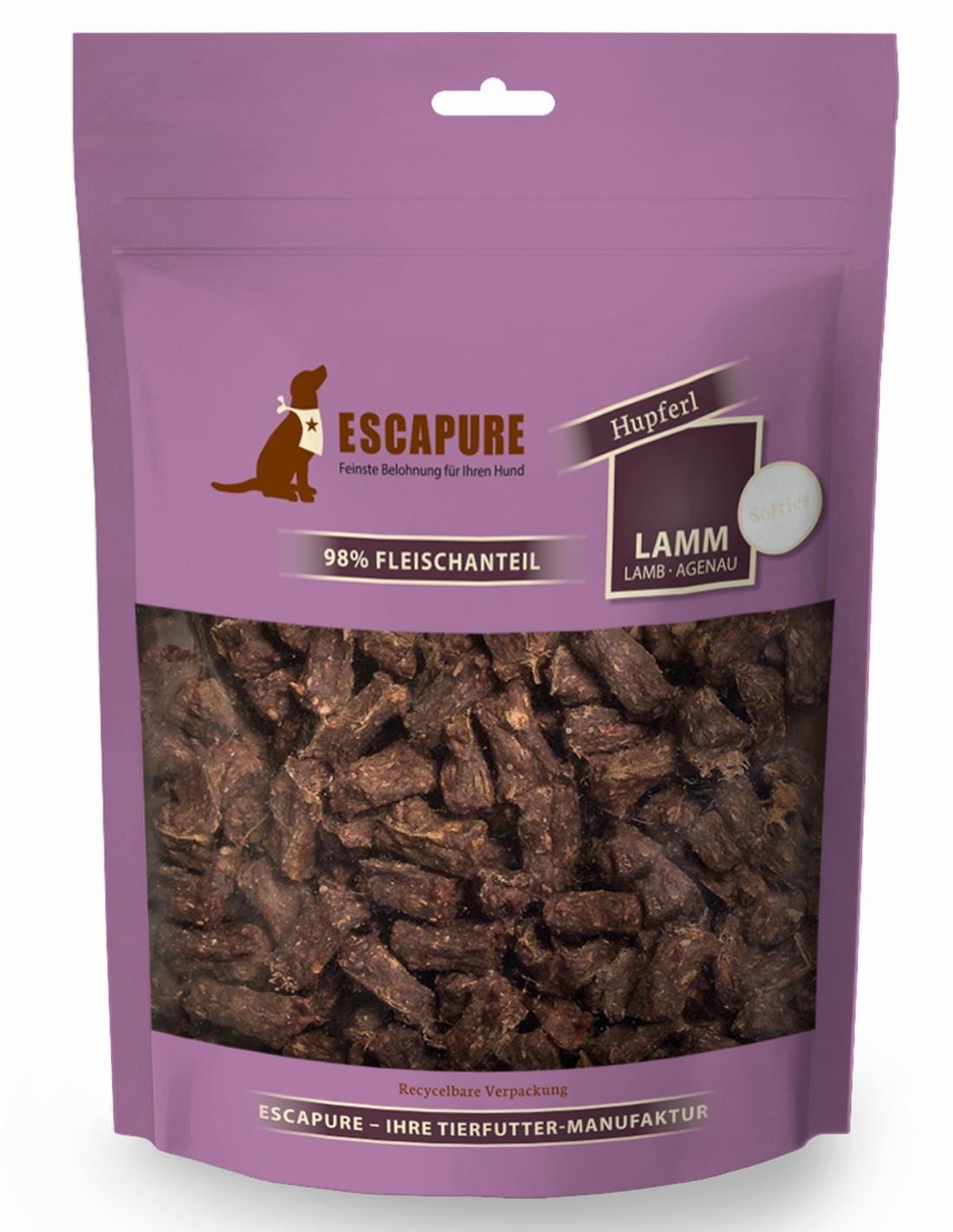 Escapure Softies Cordero 150g - Snacks blandos para perro