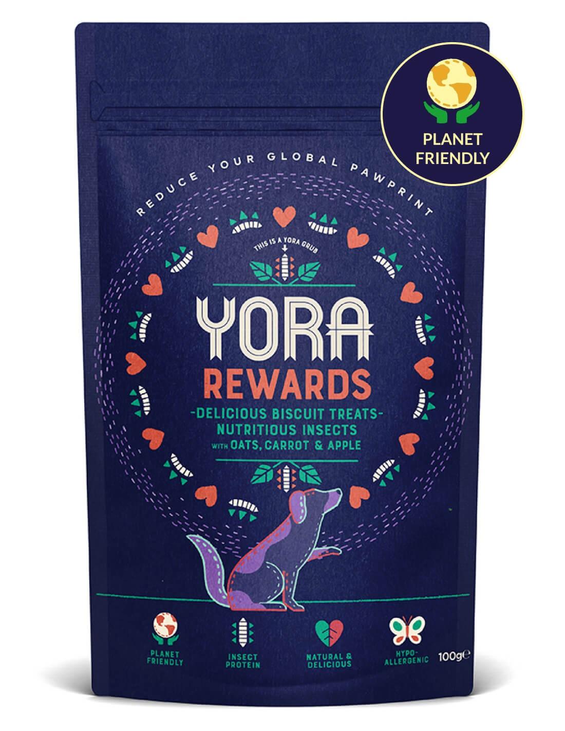 YORA Rewards - Premios de Insecto para perros - 100g