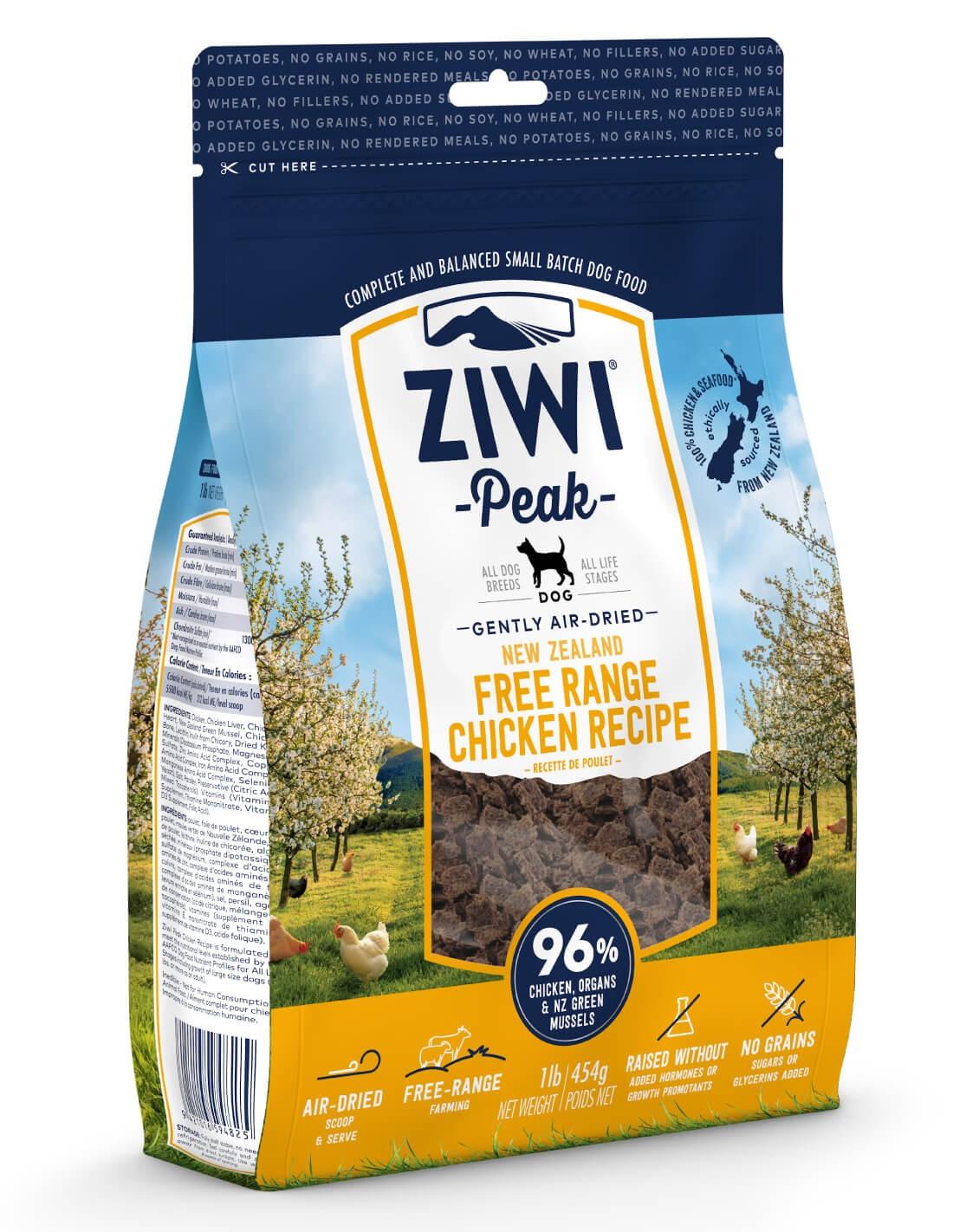 ZIWI PEAK Air-Dried Pollo Criado Libre -Pienso holístico