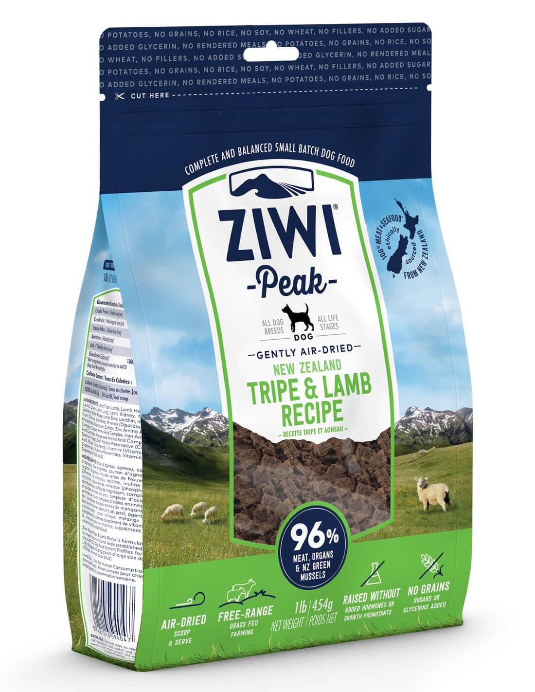ZIWI PEAK Air-Dried Callos y Cordero -Pienso holístico perro