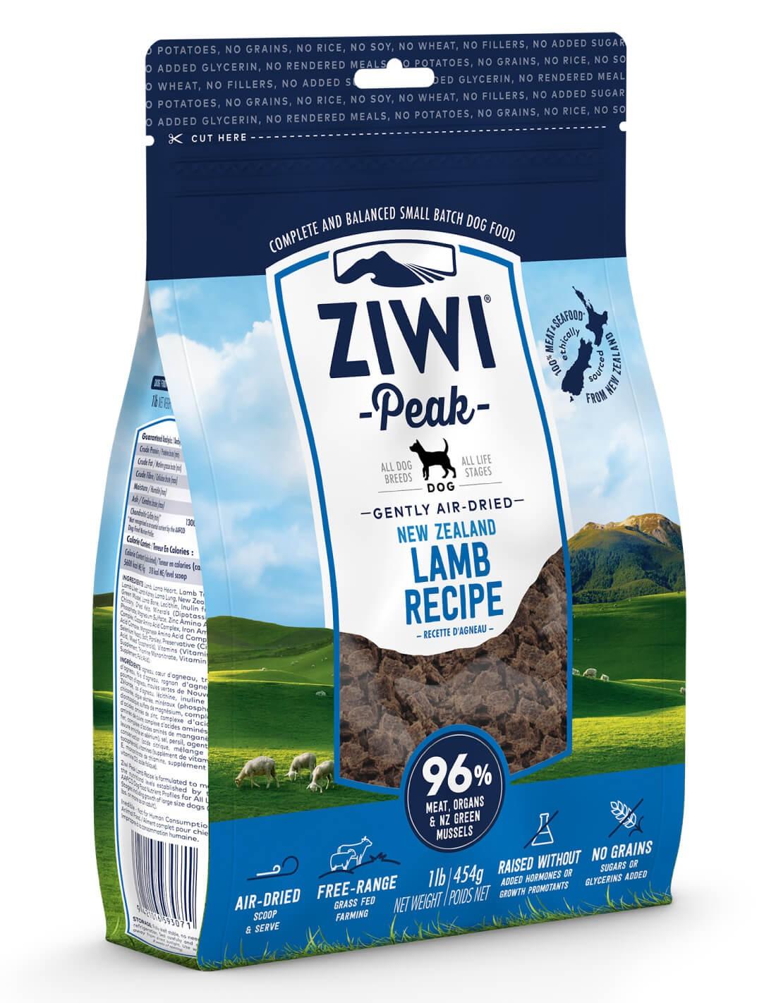 ZIWI PEAK Air-Dried Cordero - Pienso holístico para perro