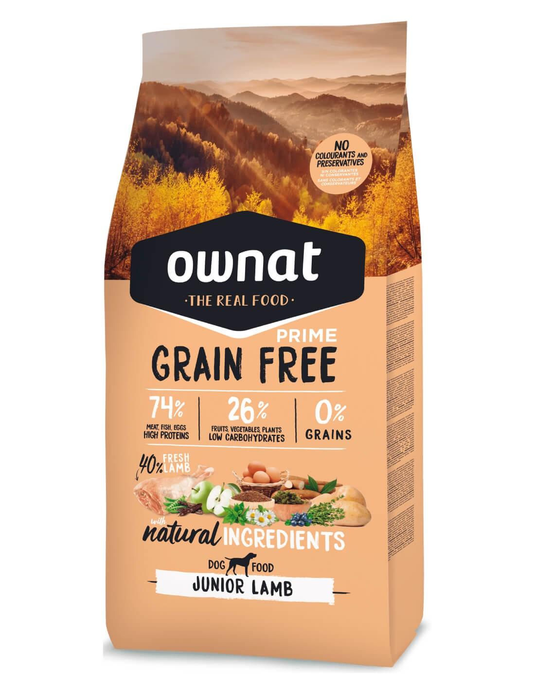 OWNAT Junior Grain Free Cordero - Pienso para cachorros