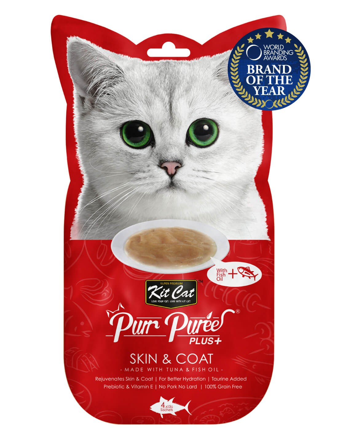 KIT CAT PurrPuree Atún y Aceite de Pescado - Skin Coat 60g