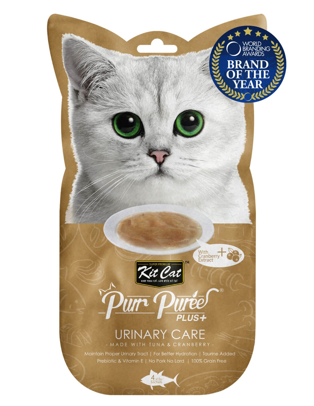 KIT CAT PurrPuree Atún y Arándano - Urinary Care 60g