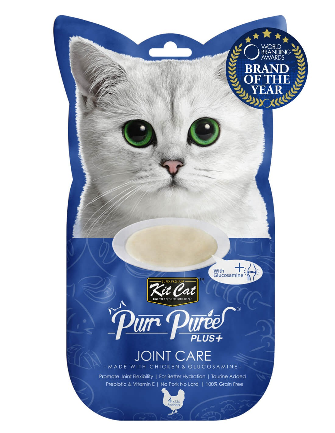 KIT CAT PurrPuree Pollo y Glucosamina - Joint Care 60g