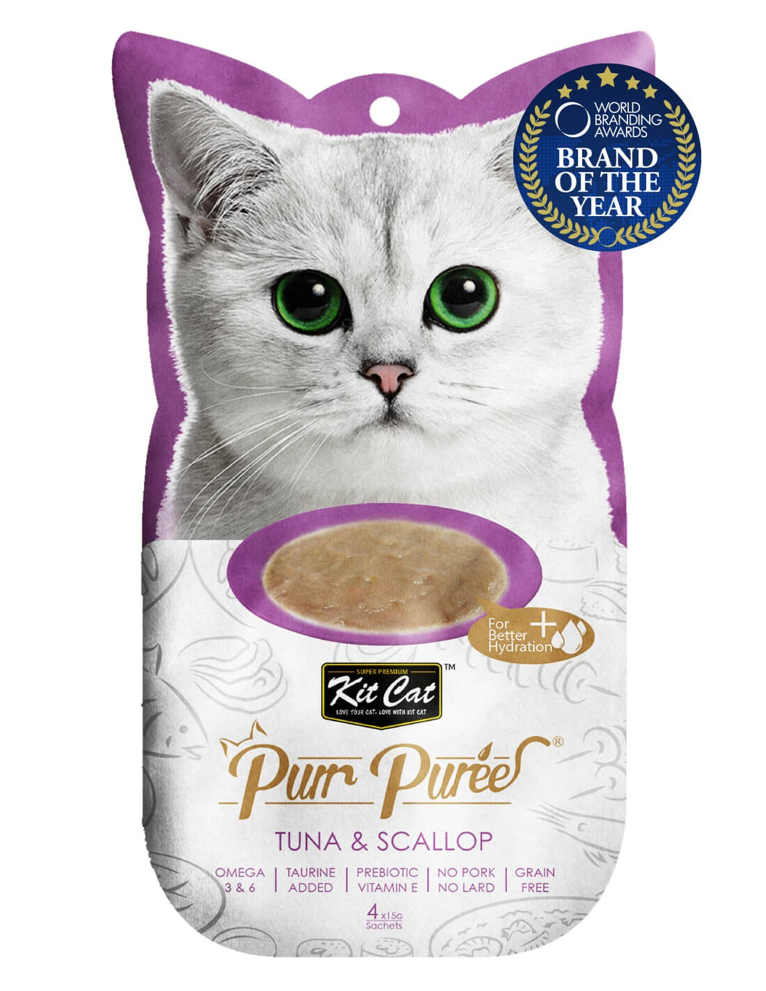 KIT CAT PurrPuree Atún y Vieira 60g