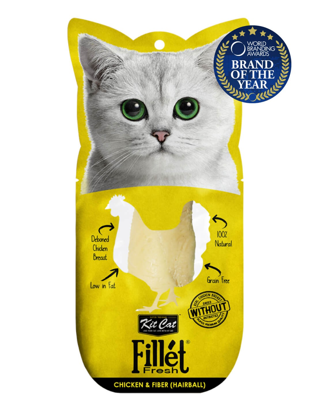KIT CAT Filete Pollo y Fibra (Hairball) 30g