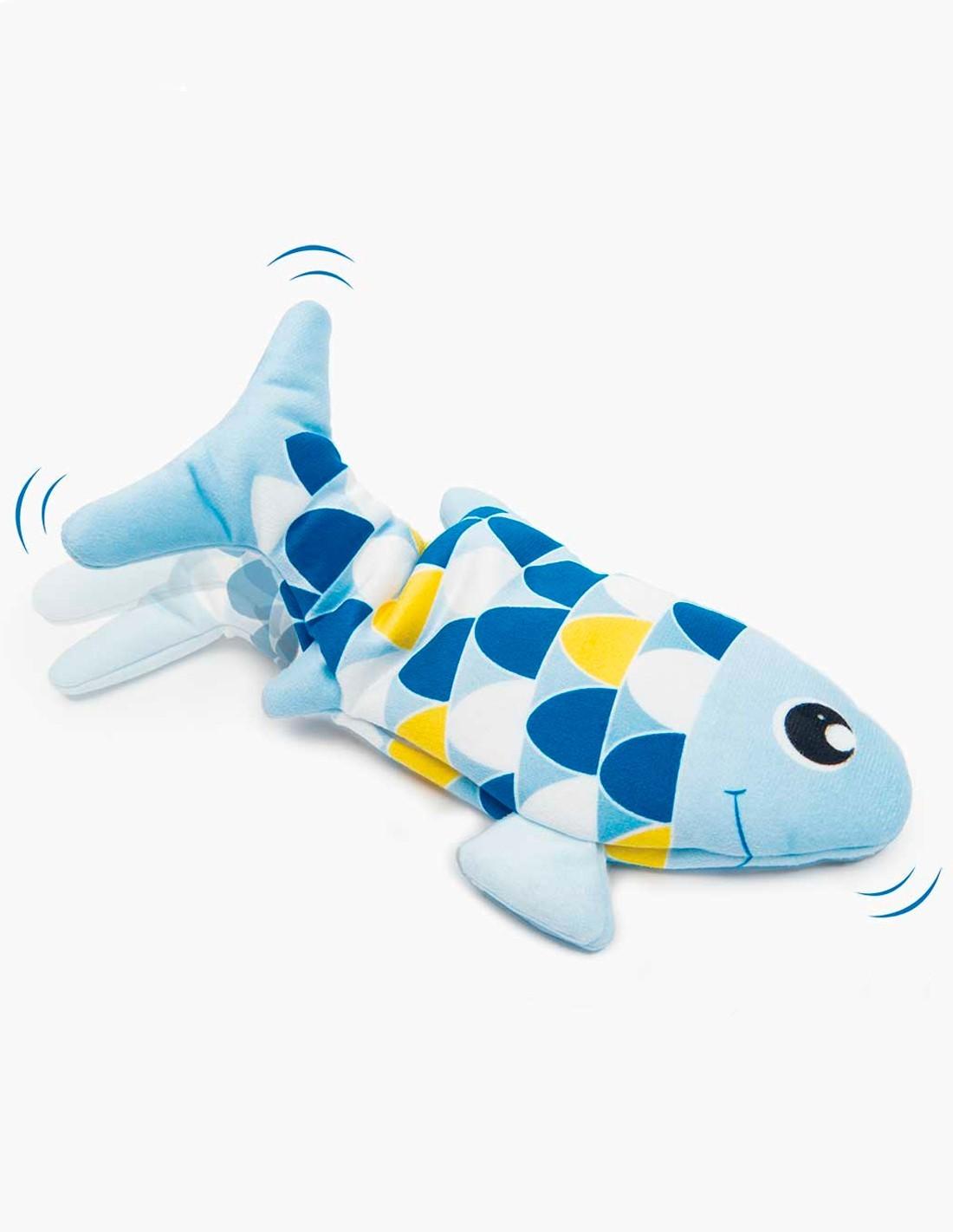 Catit Groovy Fish Azul - juguete activado con el movimiento