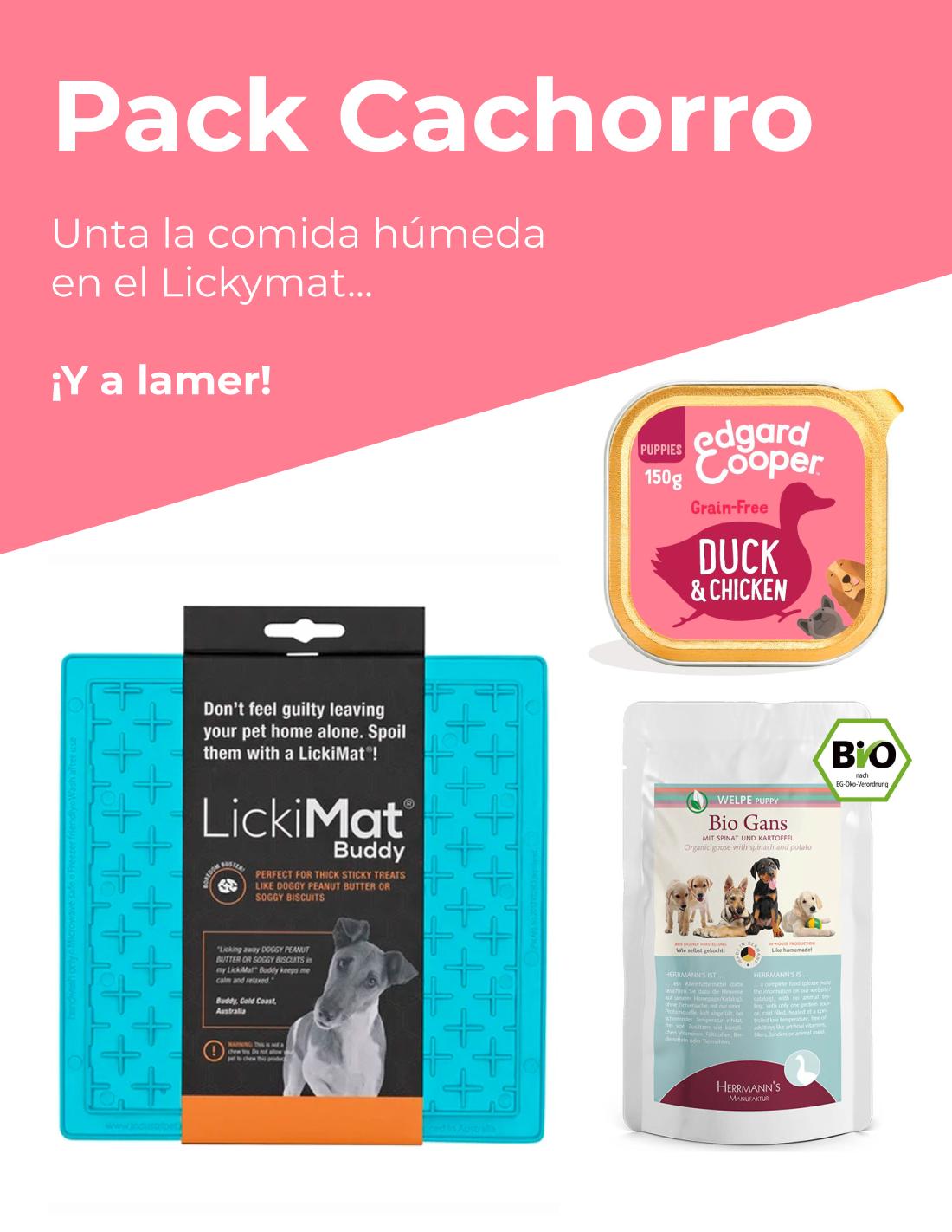 Pack Cachorro: LickiMat + Comida Húmeda para Lamer