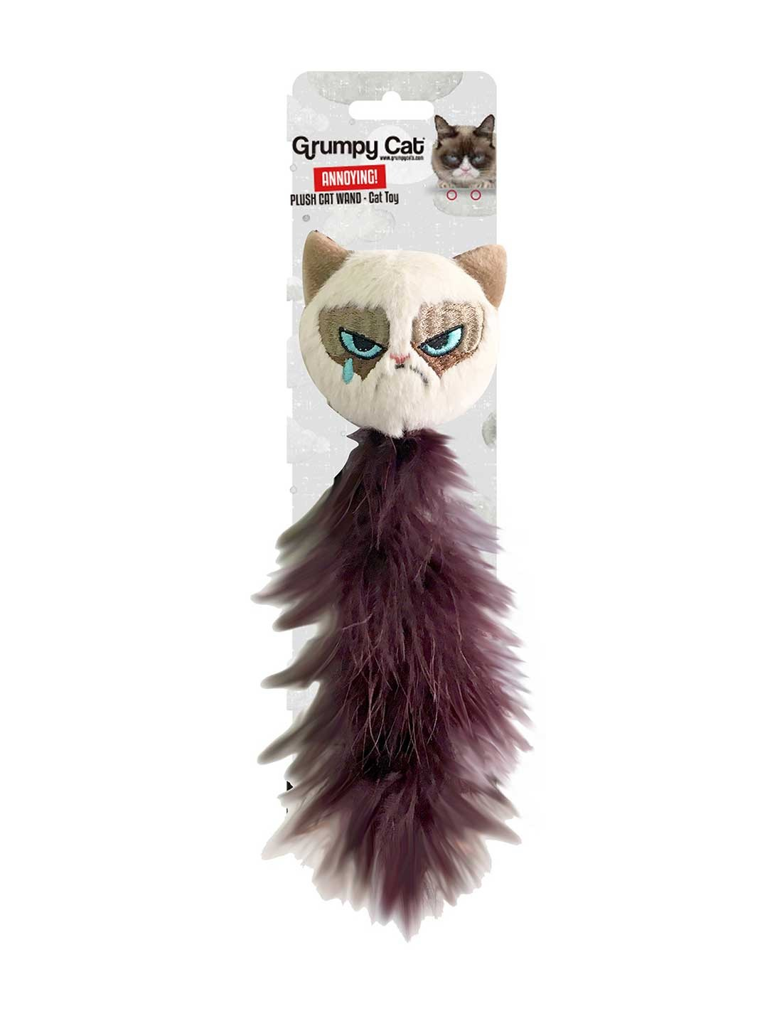 GRUMPY CAT Feather Tail - Juguete para gatos