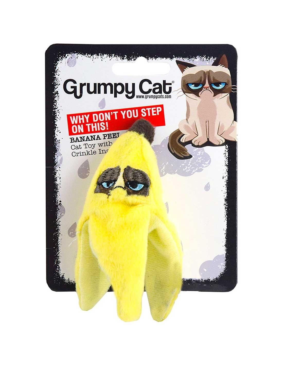 GRUMPY CAT Banana Peel - Juguete para gatos