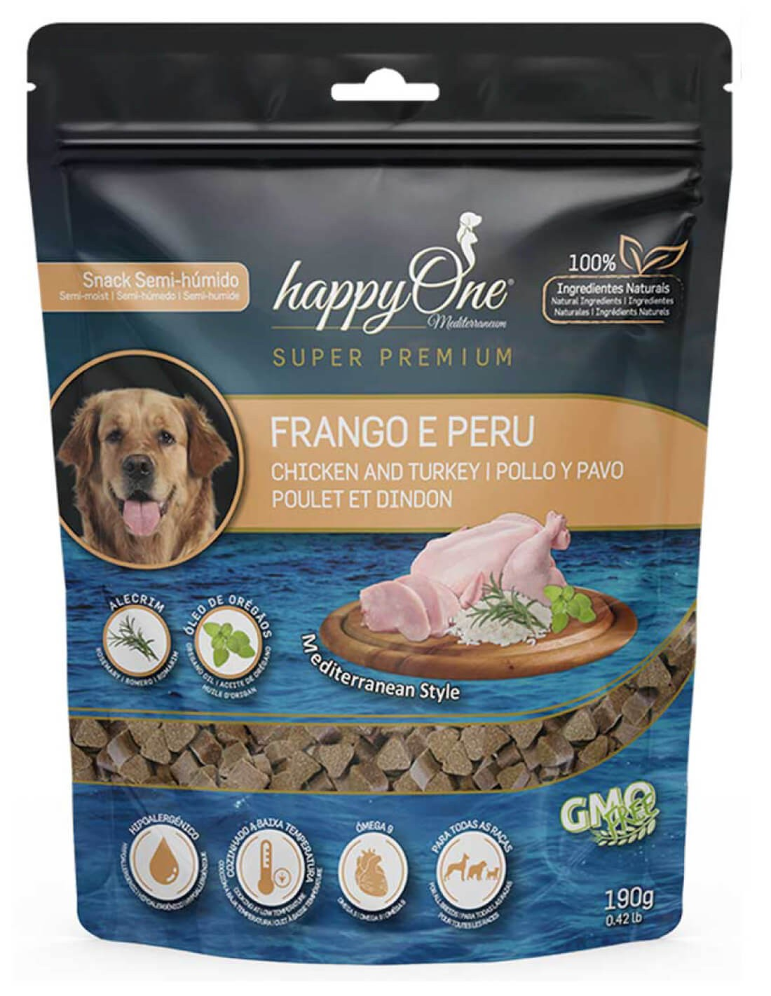 HAPPY ONE Pollo y Pavo Snack Semi-húmedo para perros