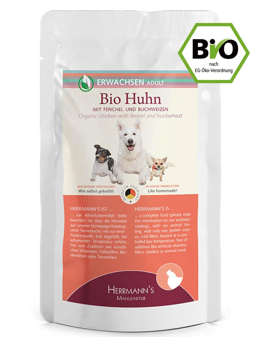 HERRMANN'S Pollo e Hinojo - Adulto - Comida húmeda BIO